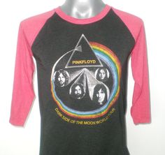 PINK FLOYD  Dark Side of The Moon  World Tour  Two Tone Jersey  Baseball  Long Sleeve  Rock  T-Shirt  Size M on Etsy, $16.99