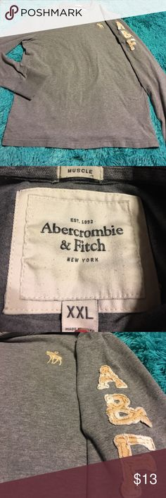 Abercrombie and Fitch long sleeve muscle T-shirt. Pre-owned Abercrombie and Fitch men's Long sleeve T-shirt. Size XXL Abercrombie & Fitch Shirts Tees - Long Sleeve