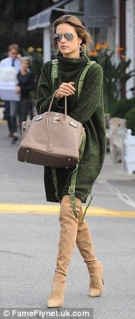 Triple threat: Alessandra Ambrosio was spotted in three different outfits while out and ab...