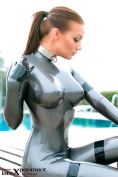 Girl In Latex Suit