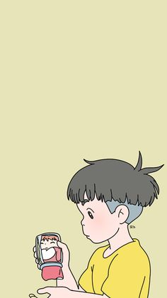 Soft Wallpaper, Kawaii Wallpaper, Wallpaper Iphone Cute, Studio Ghibli Art, Studio Ghibli Movies, Hayao Miyazaki, Korean Art, Cute Cartoon Wallpapers, Totoro