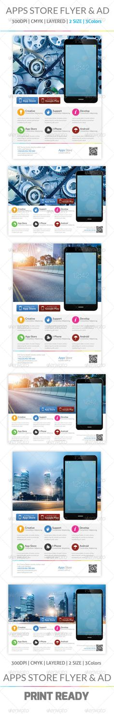 Mobile App Promotion Flyers & Ad Template ...  ad, advertisement, adverts, android, app, application, apps, blackberry, commerce, developer, flyer, ios, iphone, magazine, mobile, phone, poster, professional, promotion, shop, smartphone, software, store, tab, tablet, template, windows