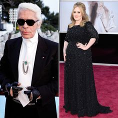 """Pin for Later: 22 of the Most Outrageous Things Karl Lagerfeld Has Ever Said Karl on Adele """"The thing at the moment is Adele. She is a little too fat, but she has a beautiful face and a divine voice.""""   — in Metro"""