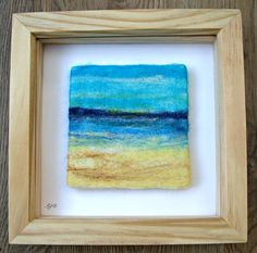 Seascape Needle Felted Picture £25.00