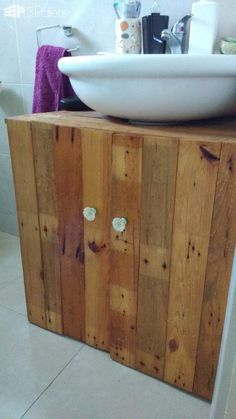 1000 images about ecoideas on pinterest con a pallets for Mueble bano pedestal
