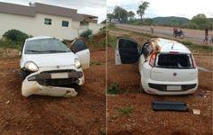 Após assalto em Porteirinha, ladrões capotam veículo e são presos pela Polícia Militar