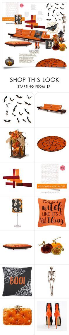 """Happy Halloween!"" by ildiko-olsa ❤ liked on Polyvore featuring interior, interiors, interior design, home, home decor, interior decorating, Foscarini, Rizzy Home, Benedetta Bruzziches and Steiger"