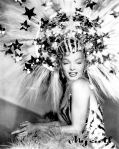 Marilyn's VERY Celestial Headdress,... How Divine!