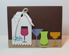 Kim Hughes creation using Paper Smooches Tag Zig Zag and NEW Drink Glasses dies
