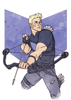 A fun Hawkeye commission for @keliana856! I love the current comics, they're great.