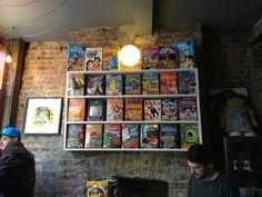 Cereal Killer Cafe in Shoreditch, Greater London >> must visit! Cereal Killer, London Brands, Brick Lane, Greater London, Breakfast Cereal, Big Family, Dublin, Trip Planning, Four Square
