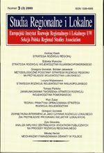 Wydawnictwo Naukowe Scholar :: :: 2000 STUDIA REGIONALNE I LOKALNE nr 3