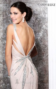 Beaded Embellished Gown by Tarik Ediz Item #92165 by Tarik Ediz  $710.00