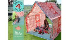Craft Gossip - http://sewing.craftgossip.com/tutorial-how-to-make-a-summer-playhouse-or-lounge-tent/2015/07/18/