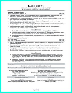 resume format for trainers