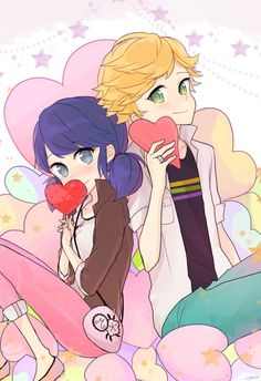 Marinette and Adrien (Miraculous Ladybug)