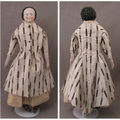 "c.1860 Unusual 20.5"" Pink Tint China Head Doll"