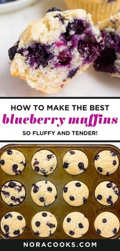 1 Bowl Vegan Blueberry Muffins are delicious and so easy to make anytime a muffin craving hits! Fluffy, moist and tender. #vegan #muffins #dairyfree #plantbased Easy Blueberry Desserts, Vegan Dessert Recipes, Dairy Free Recipes, Delicious Desserts, Bread Recipes, Vegan Breakfast Muffins, Vegan Blueberry Muffins, Blue Berry Muffins, Vegan Treats