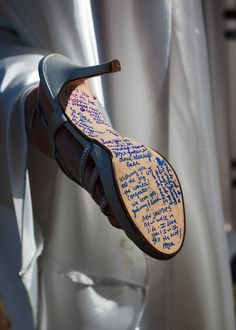 Get bridesmaids to write messages in blue marker