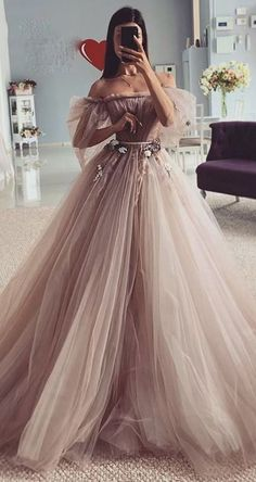 Fairy-tales Strapless Wedding Dresses Flowers Puff Sleeves Bridal Gowns CR 8530 - Source by noelitalava - Cute Prom Dresses, Sexy Wedding Dresses, Princess Wedding Dresses, Pretty Dresses, Sexy Dresses, Beautiful Dresses, Bridesmaid Dresses, Empire Wedding Dresses, Black Ball Dresses