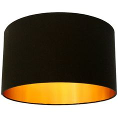 jet black cotton lampshade with gold lining by love frankie | notonthehighstreet.com