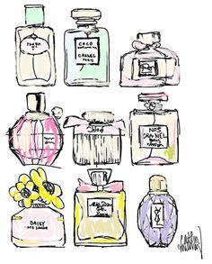 perfume sketches