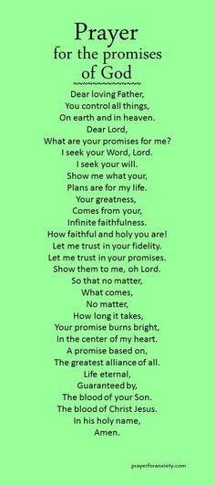 Prayer for the promises of God