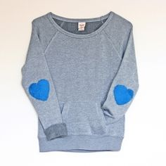 Add some pizzazz to your sweaters and sweatshirts with felted elbow patches! #craftgawker