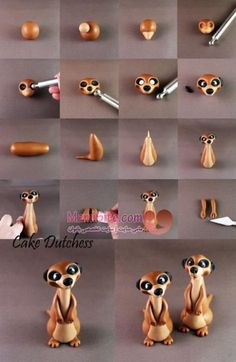 Air Dry Clay Tutorials: Cute Critter Week ~ Meercat Tutorial