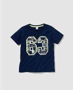 Camiseta de niño Freestyle azul marino con print