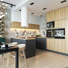 Студия LESH | Кухня в современном стиле с необычным кухонным гарнитуром