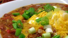 This tasty fall chili is seasoned with pumpkin pie spice and will feed a crowd.