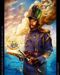 Marcus Garvey, The Orator, African American Art, Custom Framing, Spirituality, Canvas Prints, Statue, History, Jr