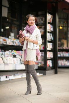 Crisp Spring :: Ivory jacket & Lace dress - Wendys Lookbook
