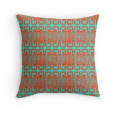 Geometrical Decor - Spanish Azulejo Throw Pillows #RedBubble #Home #Decor #Shopping