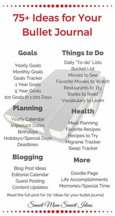 Ideas are never, ever my problem, but this is a cool list of bullet journal ideas, or really ideas for any kind of journaling.