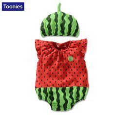 Kartun Bayi Baju Monyet Lucu Semangka Indah Bayi Kostum Lengan Newborn Bayi Laki-laki Perempuan Jumpsuit Bayi Pakaian bayi 0-24 M
