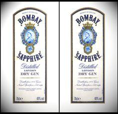 Bombay sapphire label