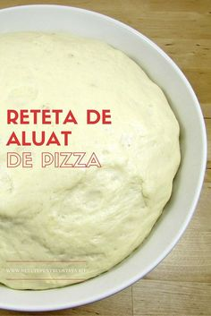 Pregatind in casa reteta de aluat de pizza vom avea oricad la indemana, intr-un timp scurt, un aluat de pizza minunat, la un cost economic! Finger Food Desserts, Dessert Recipes, Cake Recipes, Healthy Eating Recipes, Cooking Recipes, Eggplant Pizza Recipes, Bubble Bread, Pita, Good Food