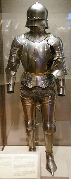 "Philadelphia, USA, Philadelphia Museum of Art, composite armour, parts are from fortress of Chalcis on the island of Euboea, Greece, known as the ""Chalcis Hoard""  Images courtesy of Todd Hoogerland, AAF ID"