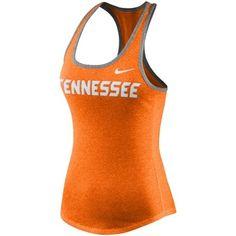 Tennessee Volunteers Nike Women's Marled Wordmark Tank Top - Tennessee Orange