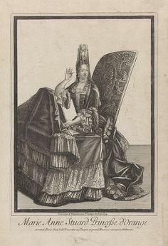 Portret van Maria II Stuart, Antoine Trouvain, 1694