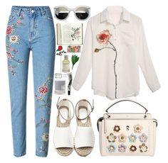 """""""327. Bloom"""" by ass-sass-in ❤ liked on Polyvore featuring Fendi, Maison La Bougie, Aesop, Essie, Nearly Natural and Rifle Paper Co"""