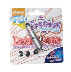 Good Girl Teasers Laser Mouse  Laser pen that projects an actual mouse onto any surface. Will drive your cat wild with excitement, enticing your cat to paw and pounce, encouraging natural instincts. Batteries included