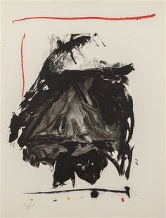 Robert Motherwell Black Rumble, 1985 Color lithograph on paper