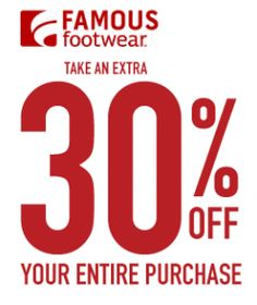 Famous Footwear Coupons 2014