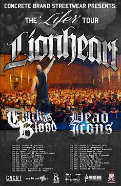 "LIONHEART SET TO EMBARK ON ""THE LIFER TOUR"""