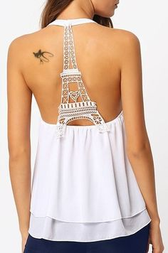 c3b198af3a184 Will be buyig this for my trip this fall! Sexy Scoop Neck Eiffel Design  Back Tank Top For Women