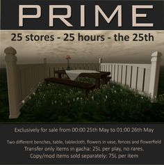 PRIME http://maps.secondlife.com/secondlife/PRIME/188/152/26