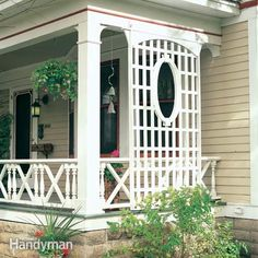 this trellis is an elegant way to get a degree of privacy for a porch, deck or even a patio. it's also a great place to grow climbing plants. this trellis offers a unique design that allows you to adapt it to fit a variety of sites. and materials for it cost less than $100. we'll show you everything you need to build it.